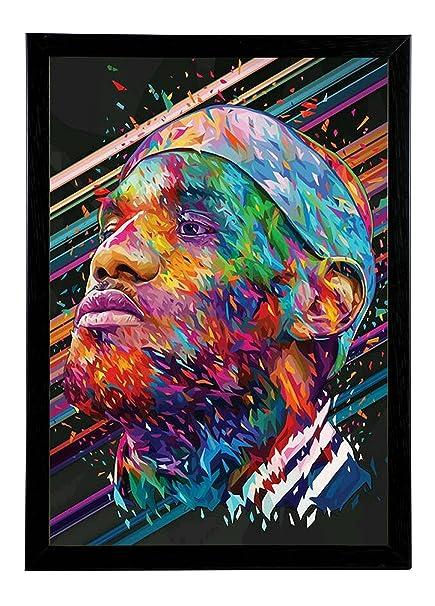 Lebron James Pop Art Framed Poster(12X8): Amazon.in: Home & Kitchen