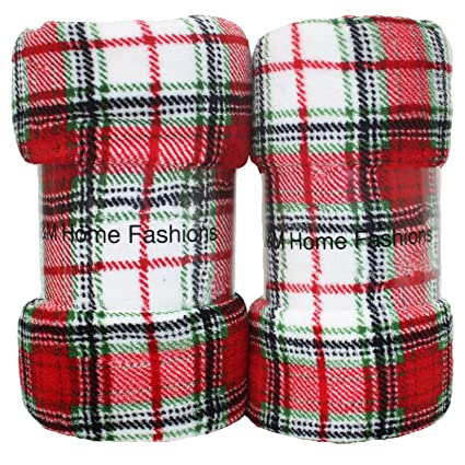 Amazon Holiday Christmas Plush Fleece Throw Blanket 40x40 Set Extraordinary Christmas Fleece Throws Blankets