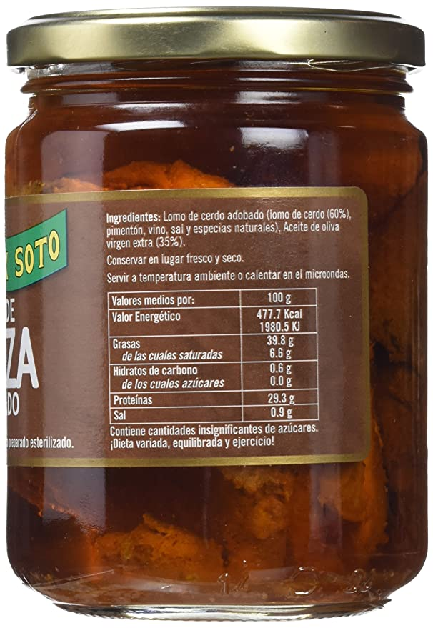 Félix Soto, Conserva de carne de cerdo (Lomo de Orza) - 3 de 450 gr. (Total 1350 gr.): Amazon.es: Alimentación y bebidas