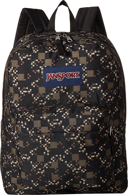 Jansport Superbreak Green Machine Digicube Backpack