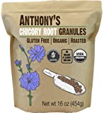 Anthony's Organic Roasted Chicory Root Granules (1lb), Gluten Free, Non-GMO