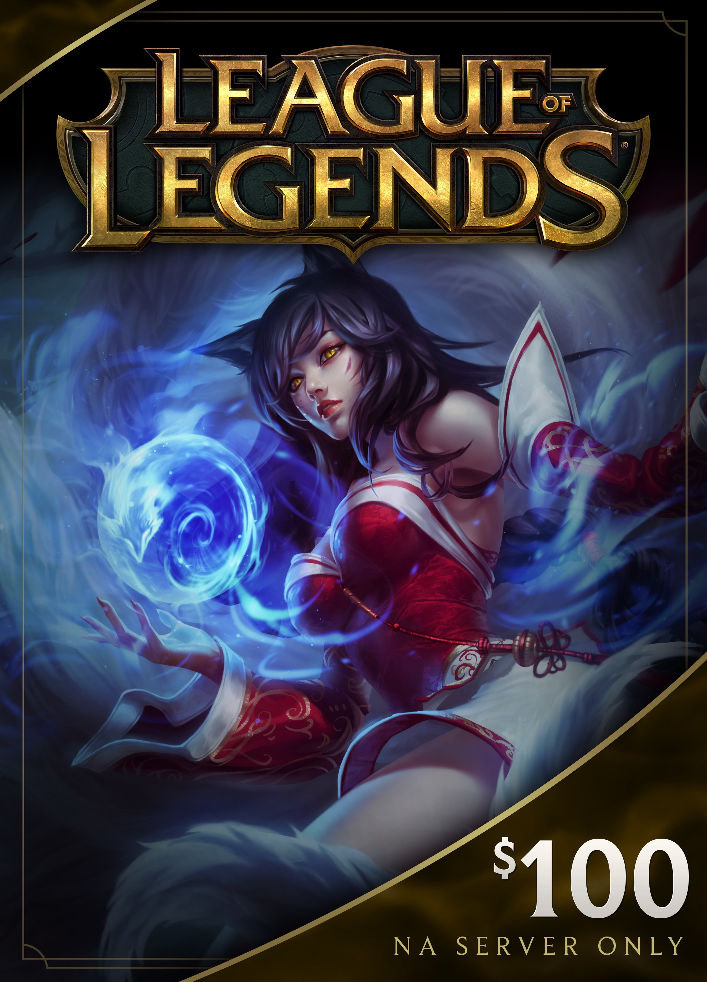 League of Legends $100 Gift Card - 15000 Riot Points - NA Server Only [Online Game Code]