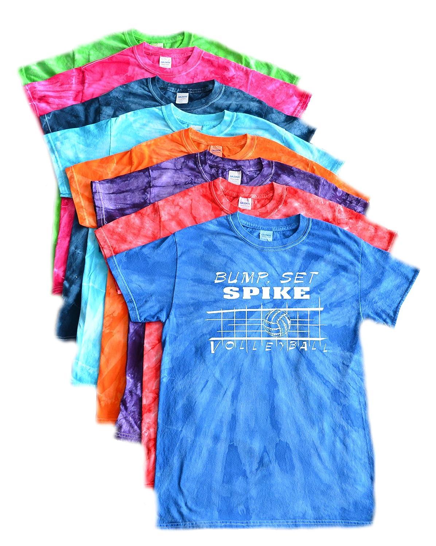 Volleyball Tie Dye T-Shirt- Bump Set Spike Logo VarsityGirl.net