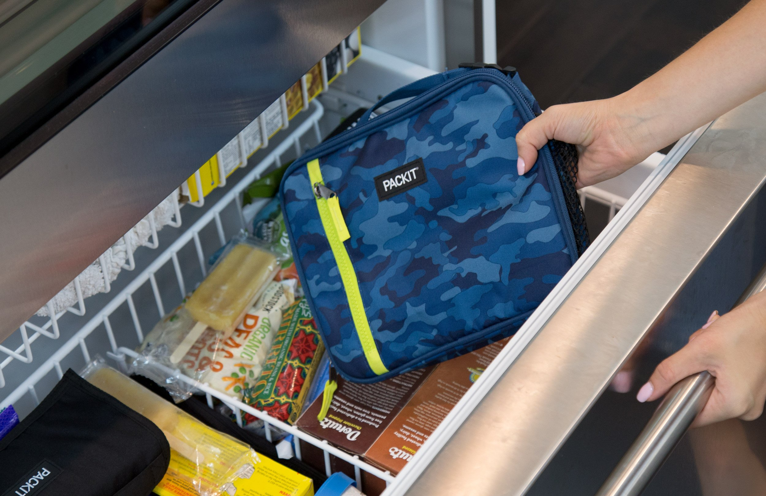 PackIt Freezable Classic Lunch Box, Blue Camo by PackIt (Image #6)