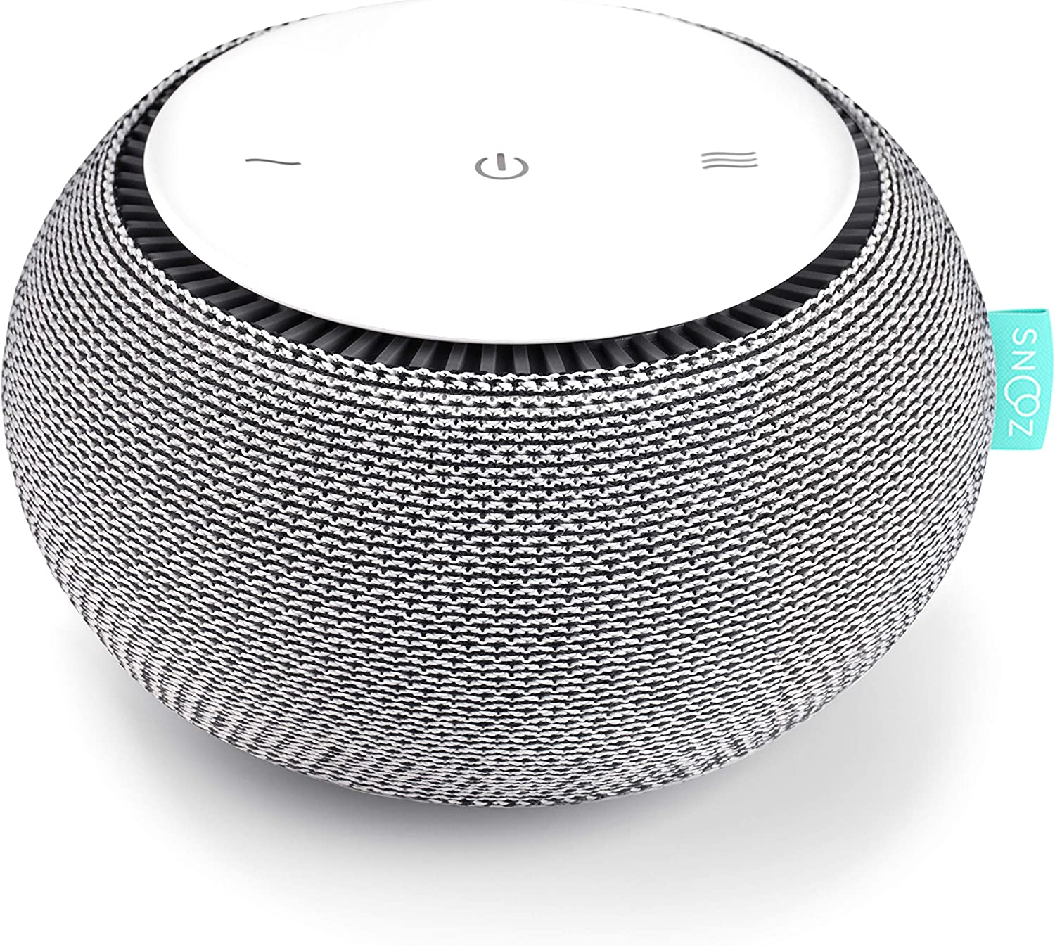 SNOOZ White Noise Sound Machine - Real Fan Inside for Non-Looping White Noise Sounds - App-Based Remote Control, Sleep Timer, and Night Light - Cloud