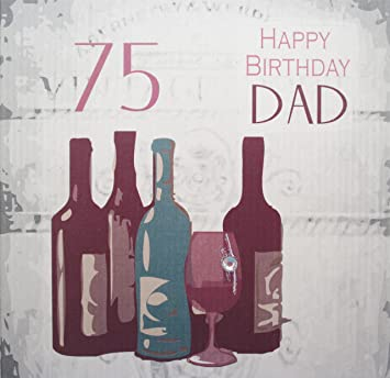 White cotton cards handmade 75 happy birthday dad vintage wine white cotton cards handmade 75 happy birthday dad vintage wine 75th birthday card white bookmarktalkfo Choice Image