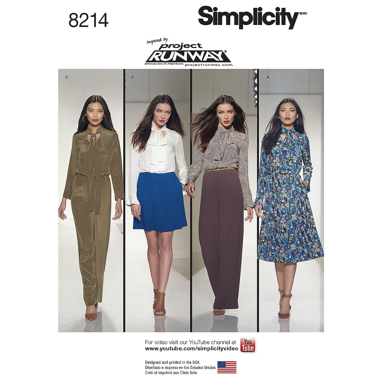 R5 Size Simplicity Patterns 8214 Misses Dresses and Jumpsuits 14-16-18-20-22