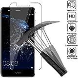 2x Huawei P10 Lite Pellicola protettiva, EJBOTH Premium Vetro Temperato proteggi schermo telefono Cristallo trasparente Invisibile protezione di display per Huawei P10 Lite - Ultra resistente Anti-bolla Alta definizione