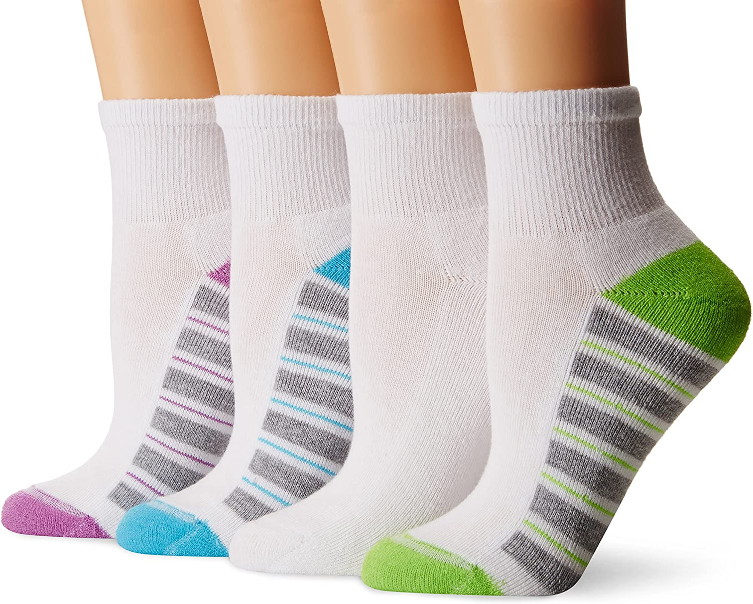 Hanes Womens Cool and Dry ComfortBlend Ankle Socks 6-Pack