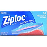 Ziploc Freezer Bags Value Pack, Quart Size, 38 ct