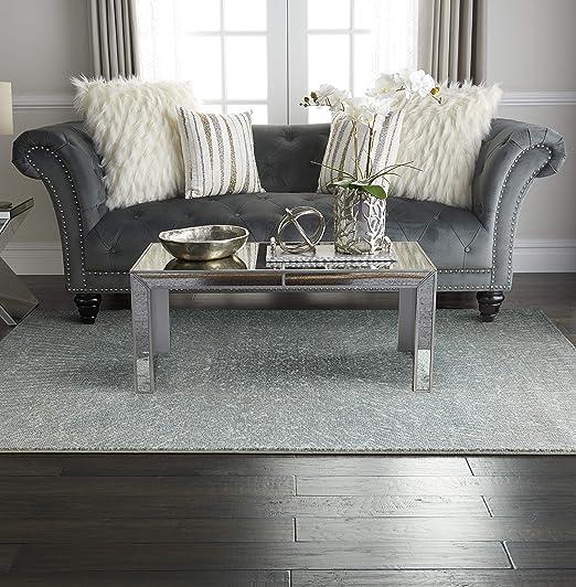 Amazon Com Inspire Me Home Decor Elegance Blue Grey And White Contemporary Area Rug 5 3 X 7 3 Furniture Decor