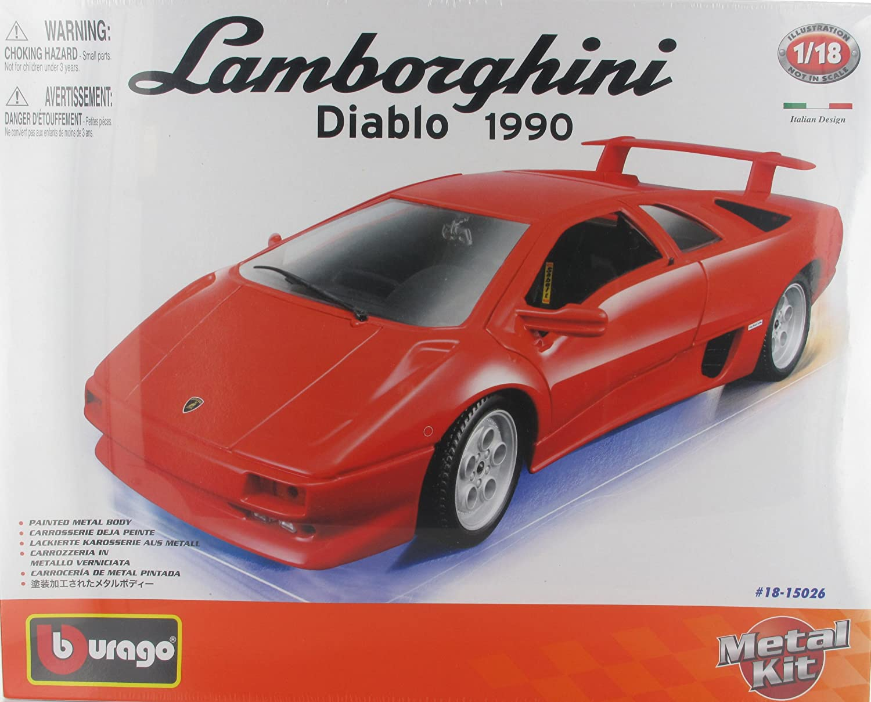 Lamborghini Diablo 1990 Die Cast Metal Model Car Kit By Bburago Scale 1 18 New