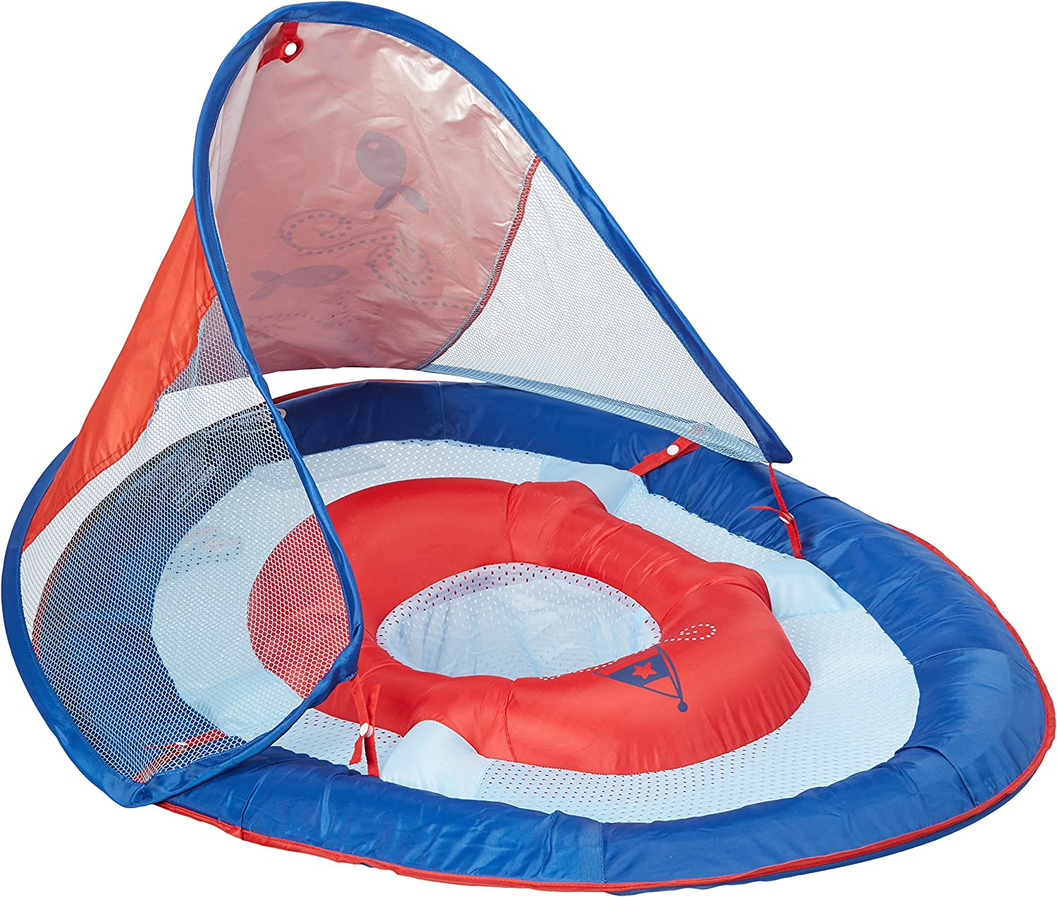 Swimways Baby Spring Float Canopy Boat 9-24 Months -Solid