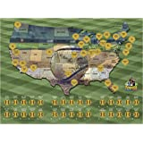 Amazoncom Beenthar Dunthat Professional Baseball Parks Teams Print - Map-of-sports-teams-in-us