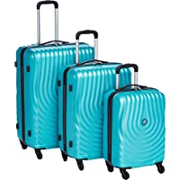 Kamiliant by American Tourister Kapa Softside Spinner Luggage Set of 3, with Number Lock - Turquoise