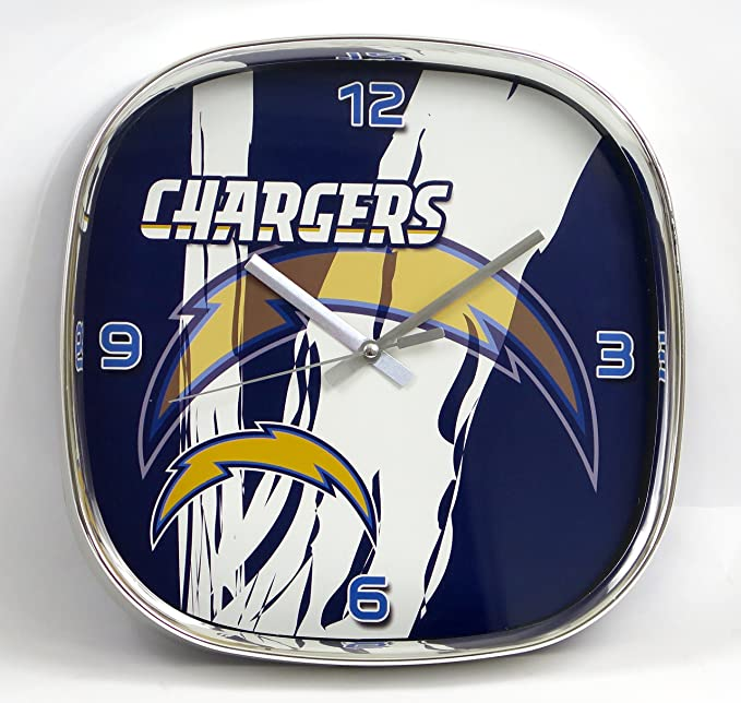 Amazon.com: Los Angeles Chargers Large Wall Clock. Ideal for Family Room, Man cave or Office Decor. Wonderful Gift for dad on Fathers Day.: Home & Kitchen