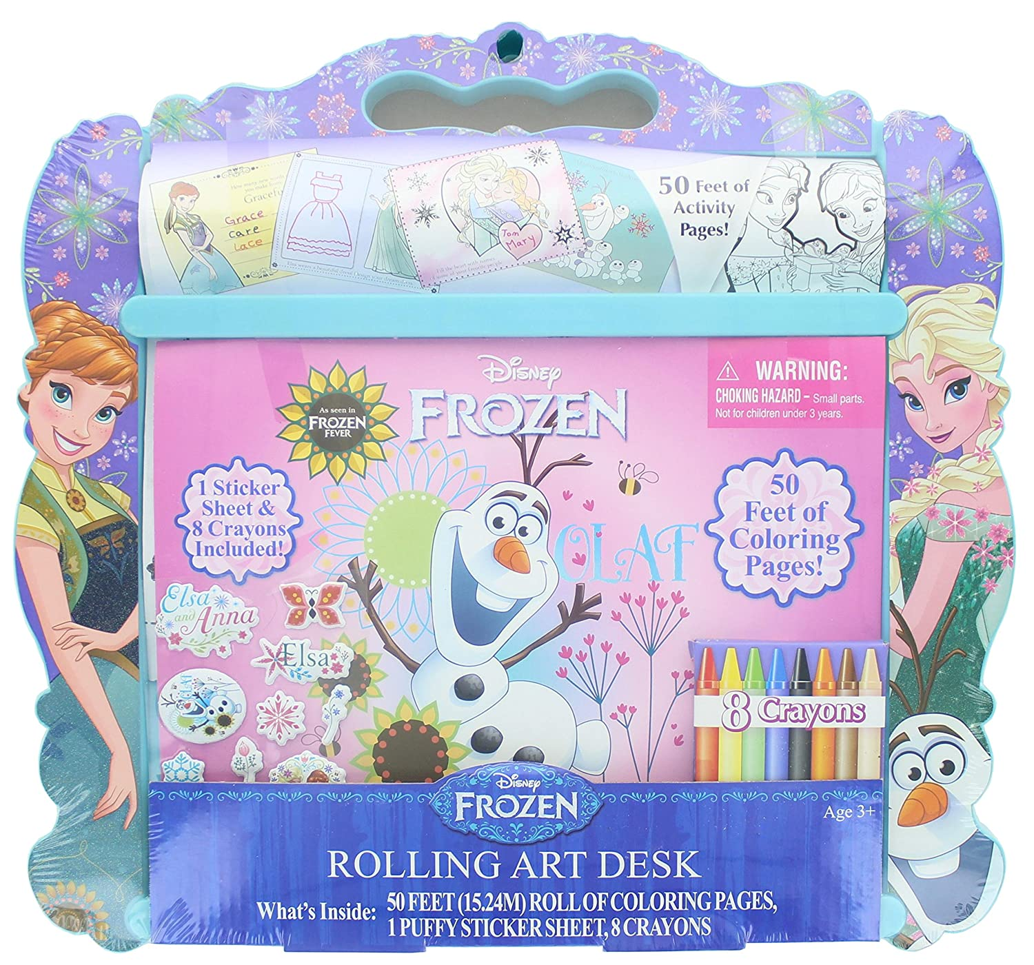 Amazon Disney Frozen Anna Elsa And Olaf Rolling Art Portable Design Desk Office Products