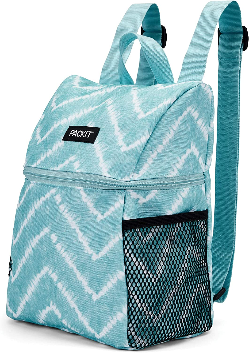 PackIt Freezable Everyday Lunch Backpack, Aqua Tie Dye