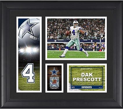"afcd3777f Dak Prescott Dallas Cowboys Framed 15"" x 17"" Player Collage with  a Piece of"
