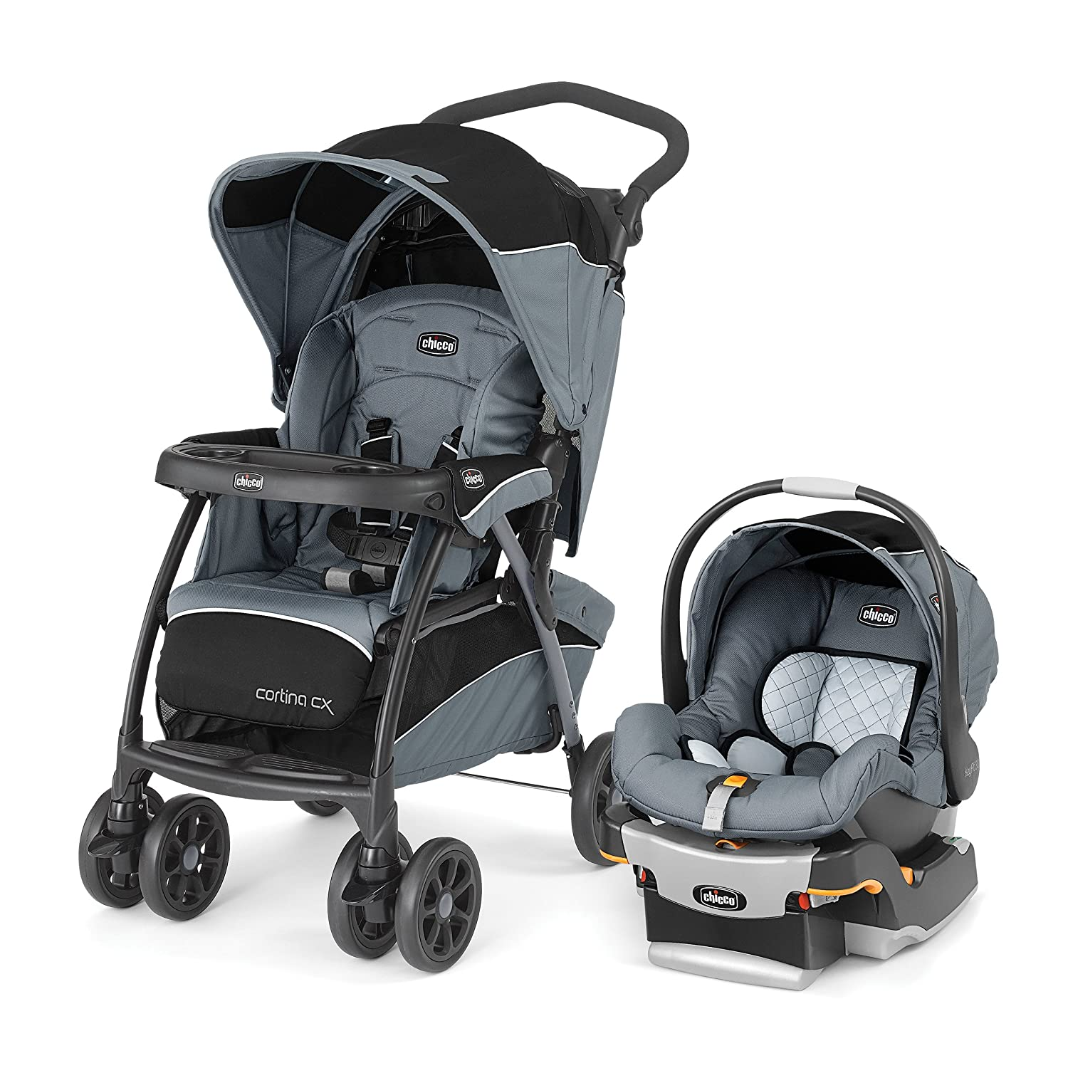 Chicco Cortina CX Travel System, Iron 00079748720070