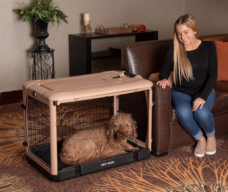 Pet Gear The Other Door 4 Door Steel Crate with Plush Bed + Travel Bag for Cats/Dogs 81taeieKZ9L