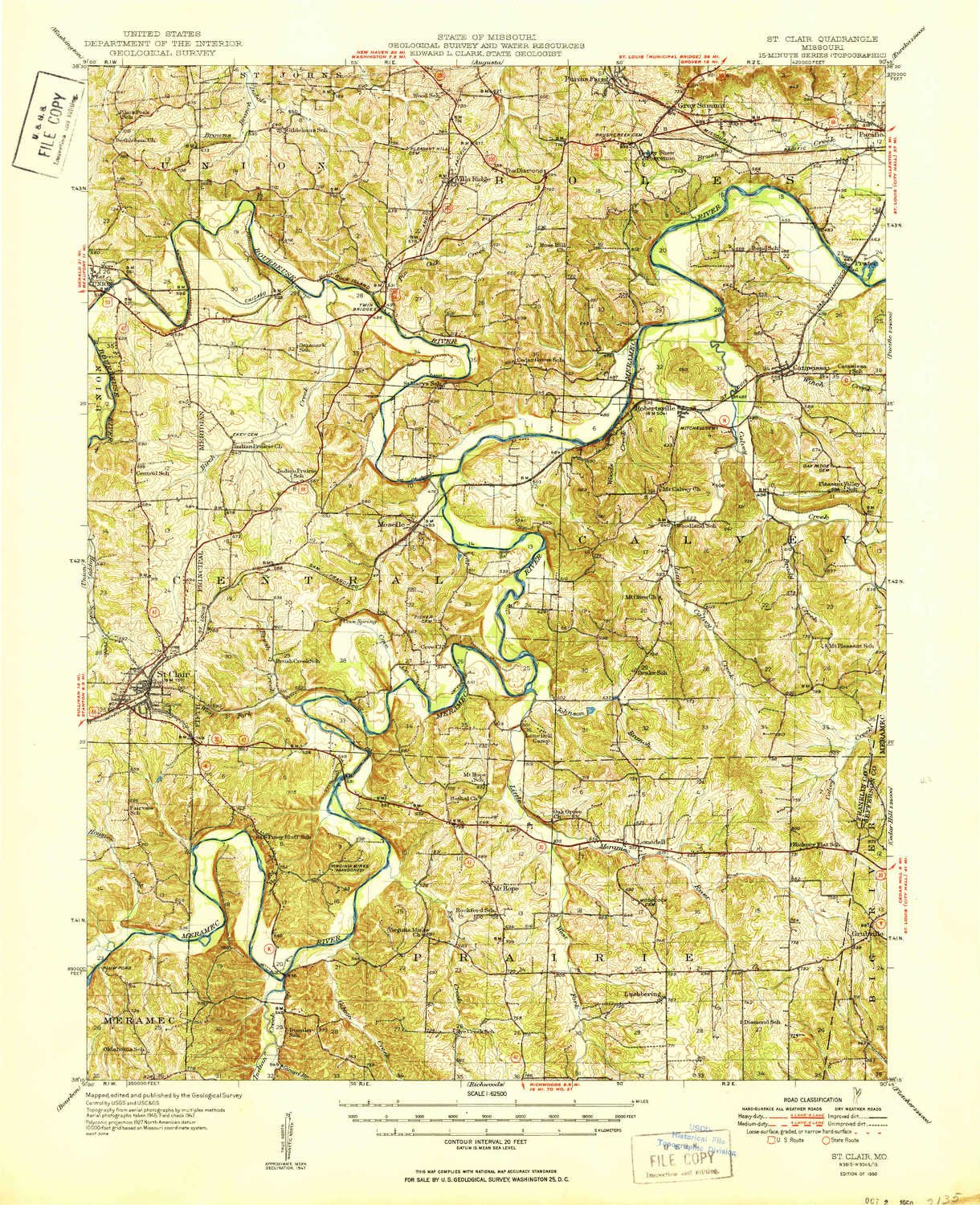 Amazon Com Yellowmaps St Clair Mo Topo Map 1 62500 Scale 15 X 15