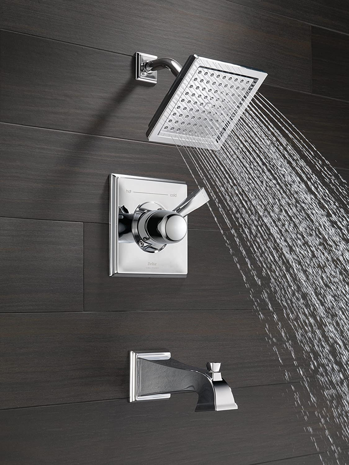 Delta T14451 Dryden Monitor 14 Series Tub and Shower Trim, Chrome ...