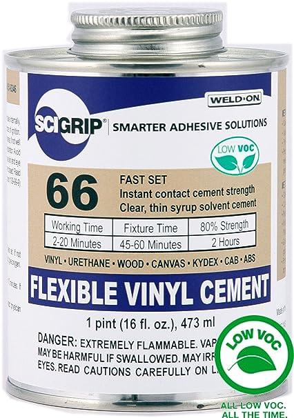 Adhesives, Sealants & Tapes 16 Oz. Beautiful Ips Weld-on #4784 Vinyl Plastic Adhesive Pint