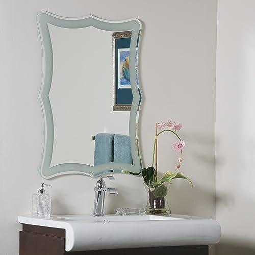 Decor Wonderland Coquette Frameless Bathroom Mirror