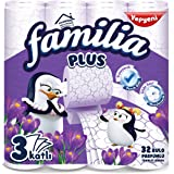 Familia Plus 3 Katlı Tuvalet Kağıdı Sihirli Çiçekler 32'li 1 Paket (1 x 32 Adet)