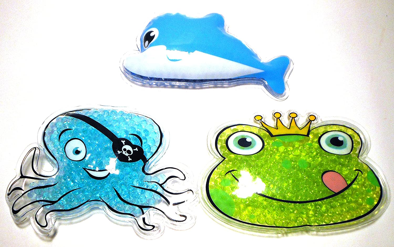 frrosch, Dauphin, pieuvre Compresses chaud//froid pour Kids 3/St.