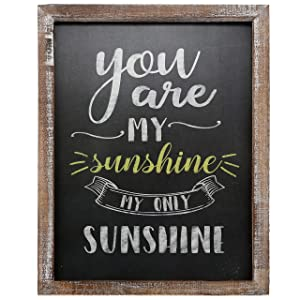 "Barnyard Designs You are My Sunshine Wall Art Wood Chalkboard Sign Rustic Vintage Primitive Country Home Decor 15.75"" x 11.75"""