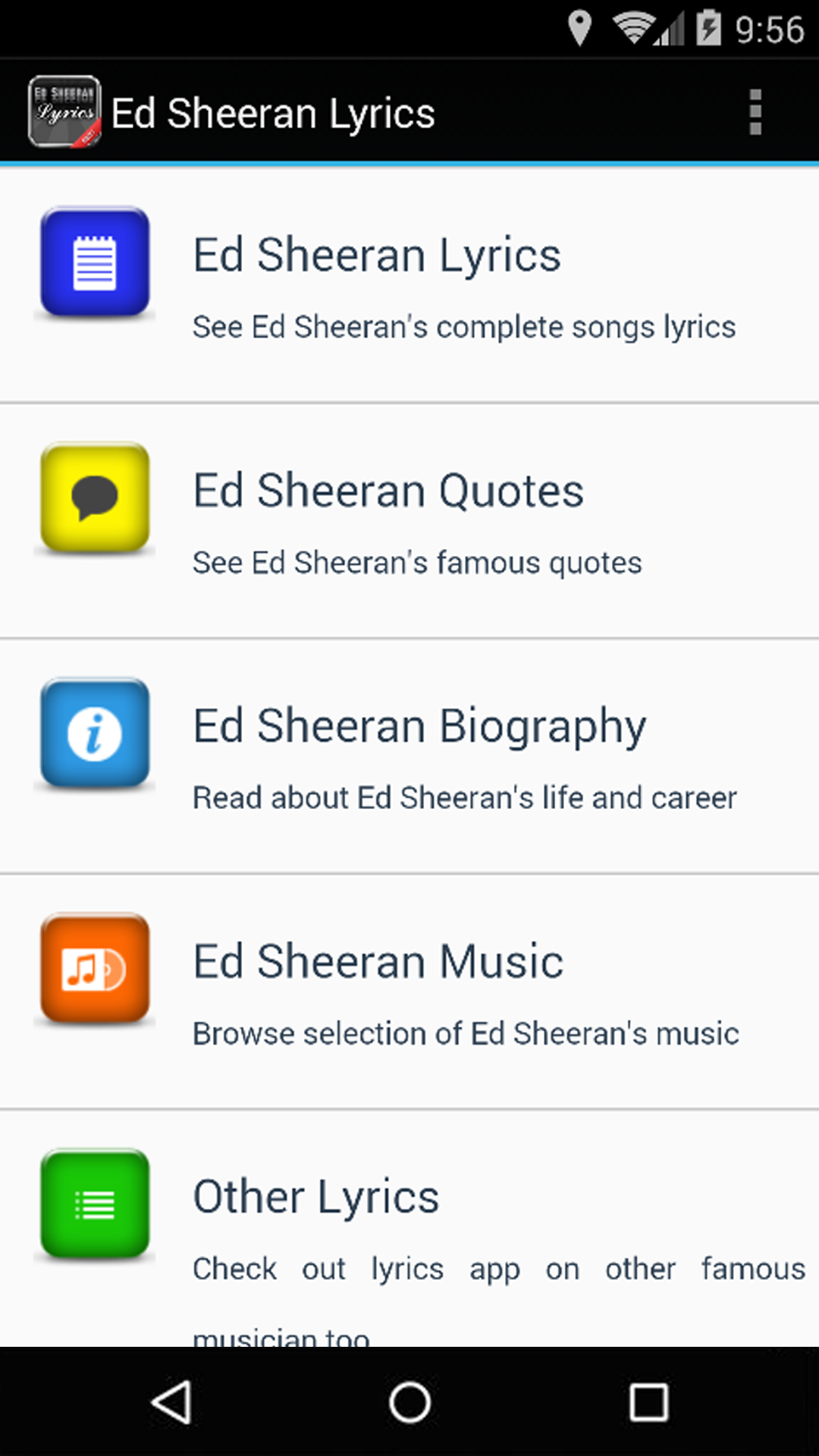 Amazon com: Ed Sheeran Lyrics: Appstore for Android