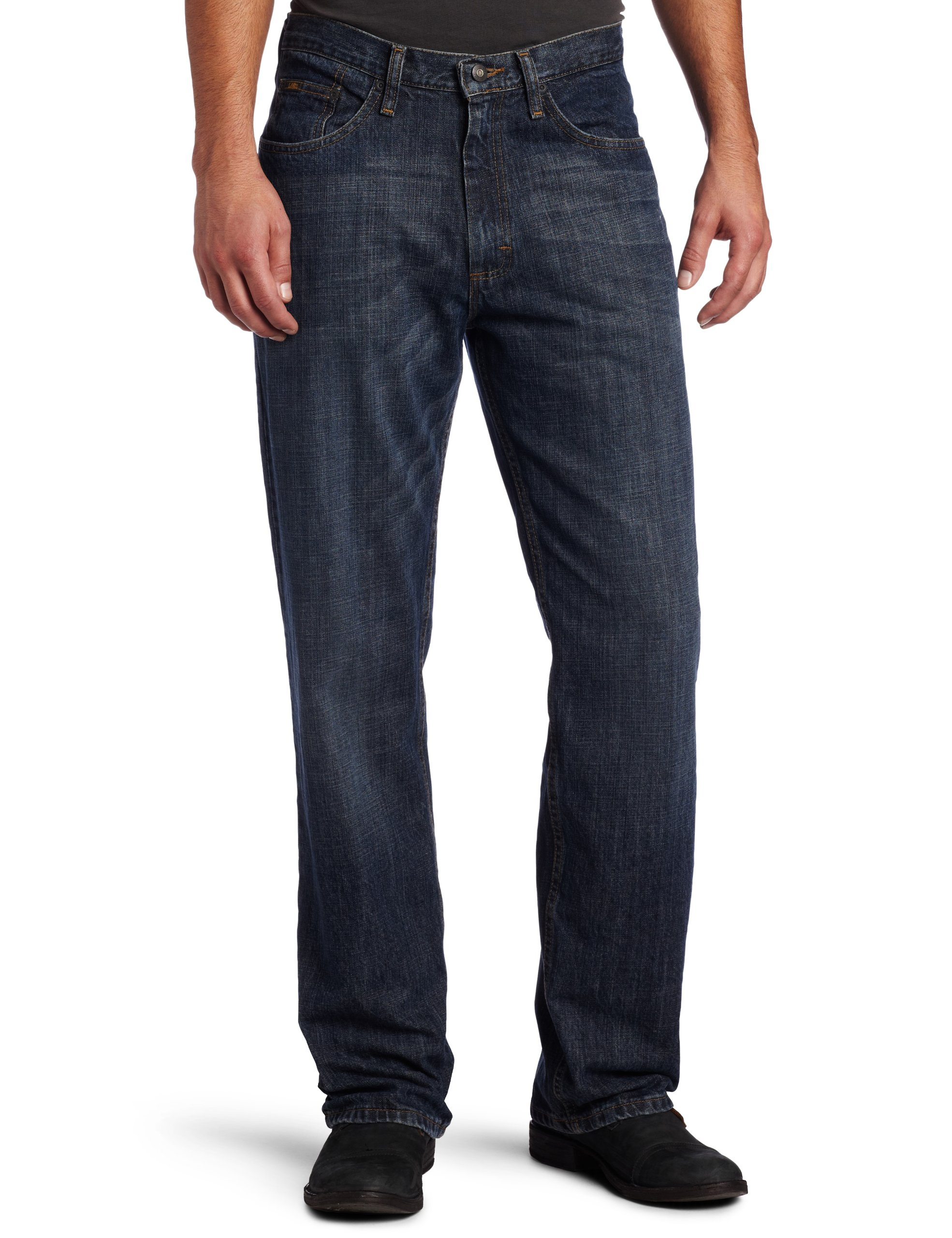 Lee Men's Premium Select Relaxed Fit Straight Leg Jean, Calypso Wiskered, 40W x 34L