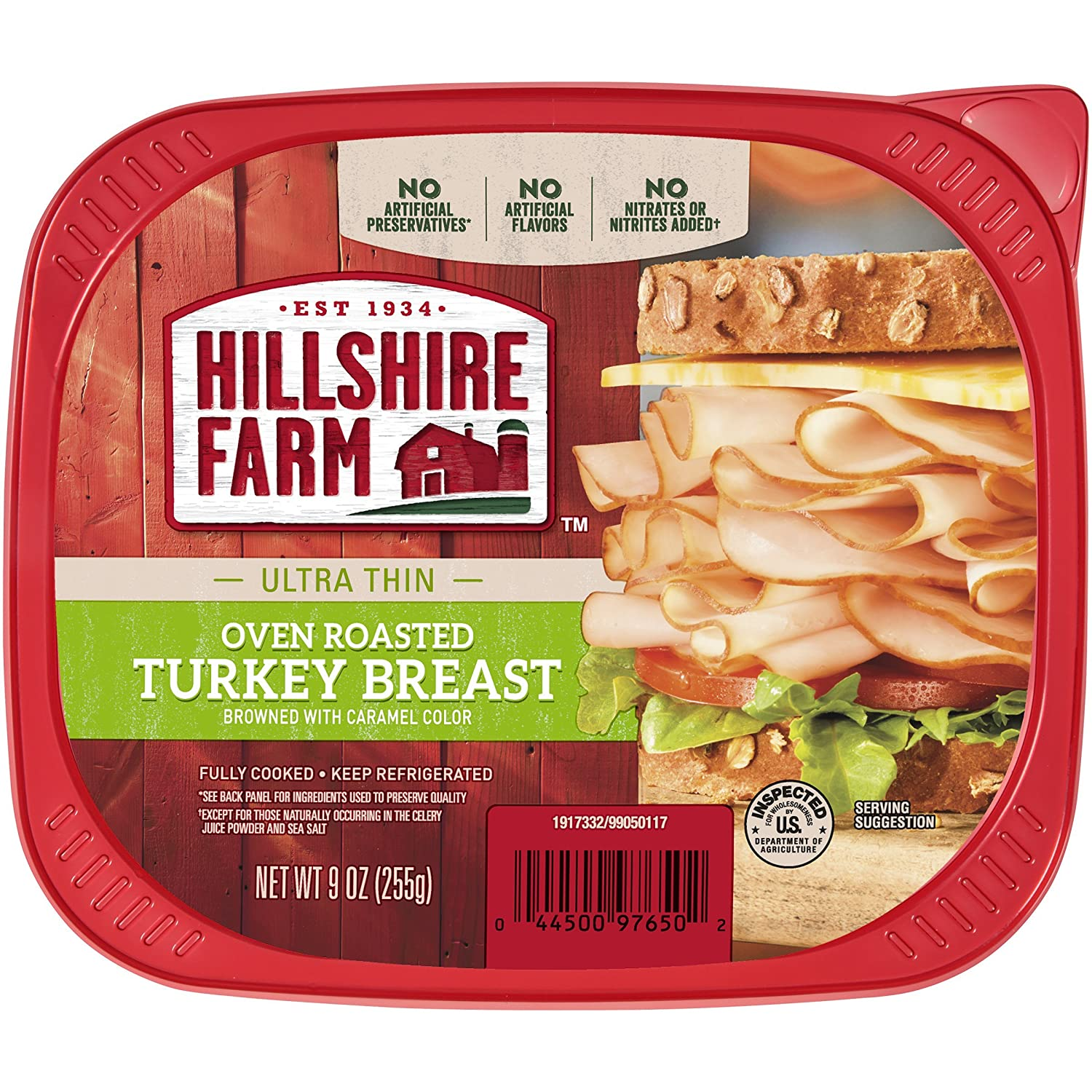Hillshire Farm Ultra Thin Sliced Lunchmeat, Oven Roasted Turkey Breast, 9 oz.