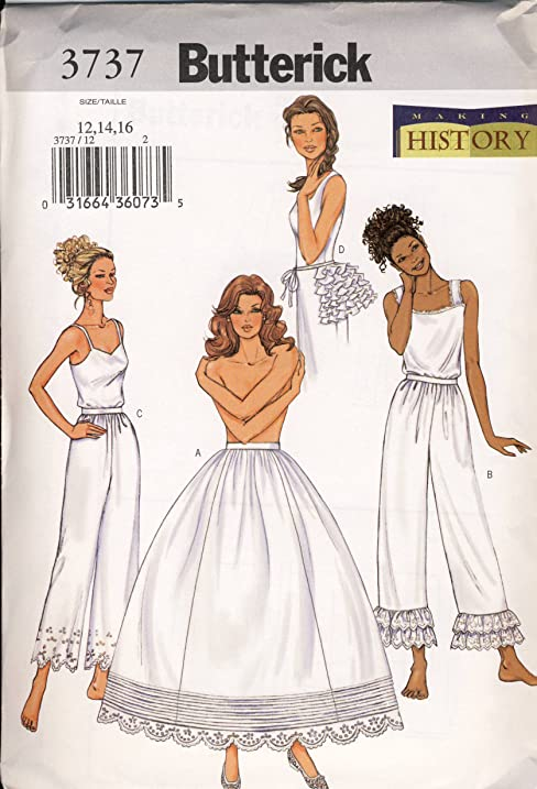 Amazon.com: Butterick Sewing Pattern 3737 - Use to Make - Misses ...