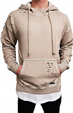 Oversize HOODIE Designer Sweat Jacke Cardigan Hoody Pullover Shirt Herren Camouflage Longsleeve m NEU Kapuzen pullover long Sweatjacke hip hop