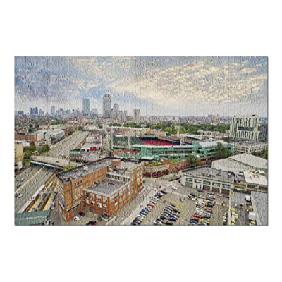Boston, Massachusetts - Aerial View of Fenway Park 9000147 (Premium 1000 Piece Jigsaw Puzzle for Adults, 20x30, Made in USA!): Toys & Games