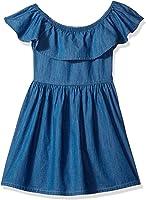 Tommy Hilfiger Big Girls' Denim Off The Shoulder Dress