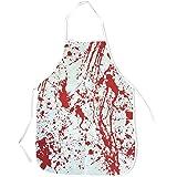 Tablier ensanglanté Halloween – Tablier de boucher avec éclaboussures de sang horreur – Déguisement ou accessoire parfait pour les soirées déguisées