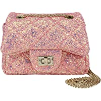 23cb30ce228a79 CMK Trendy Kids Sparkly Glitter Toddler Kids Purse for Girls Quilted Little  Girl Purses