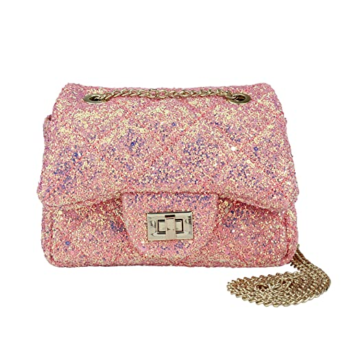 681f25f753 Amazon.com: CMK Trendy Kids Glitter Toddler Purse for Girls Sparkly Quilted Little  Girl Purses (80001_Chunky Pink): Shoes