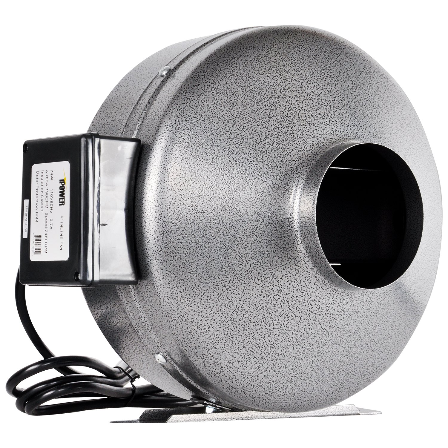 iPower 10 Inch 862 CFM Inline Duct Ventilation Fan HVAC Exhaust Blower for Grow Tent, Grounded Power Cord