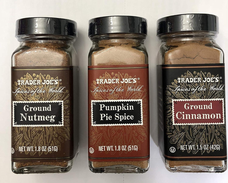 Trader Joe's Holiday spice variety- Cinnamon, Nutmeg, and Pumpkin Pie spice