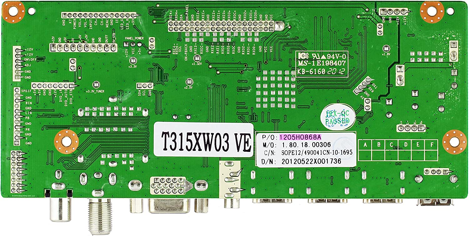 CV318H-T Main Board for ELCFW328 Element 1205H0868A