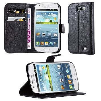 cdf2f5fe7f8 Cadorabo Carcasa Compatible con Samsung Galaxy Express 2 Móvil En Phantom Negro  Funda con Tarjetero Y Función Atril Carcasa Funda: Amazon.es: Electrónica