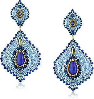 product image for Miguel Ases Lapis and Jade Lotus Earrings