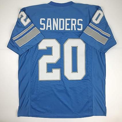 ec287b1fbc1 Unsigned Barry Sanders Detroit Blue Custom Stitched Football Jersey Size XL  New No Brands Logos