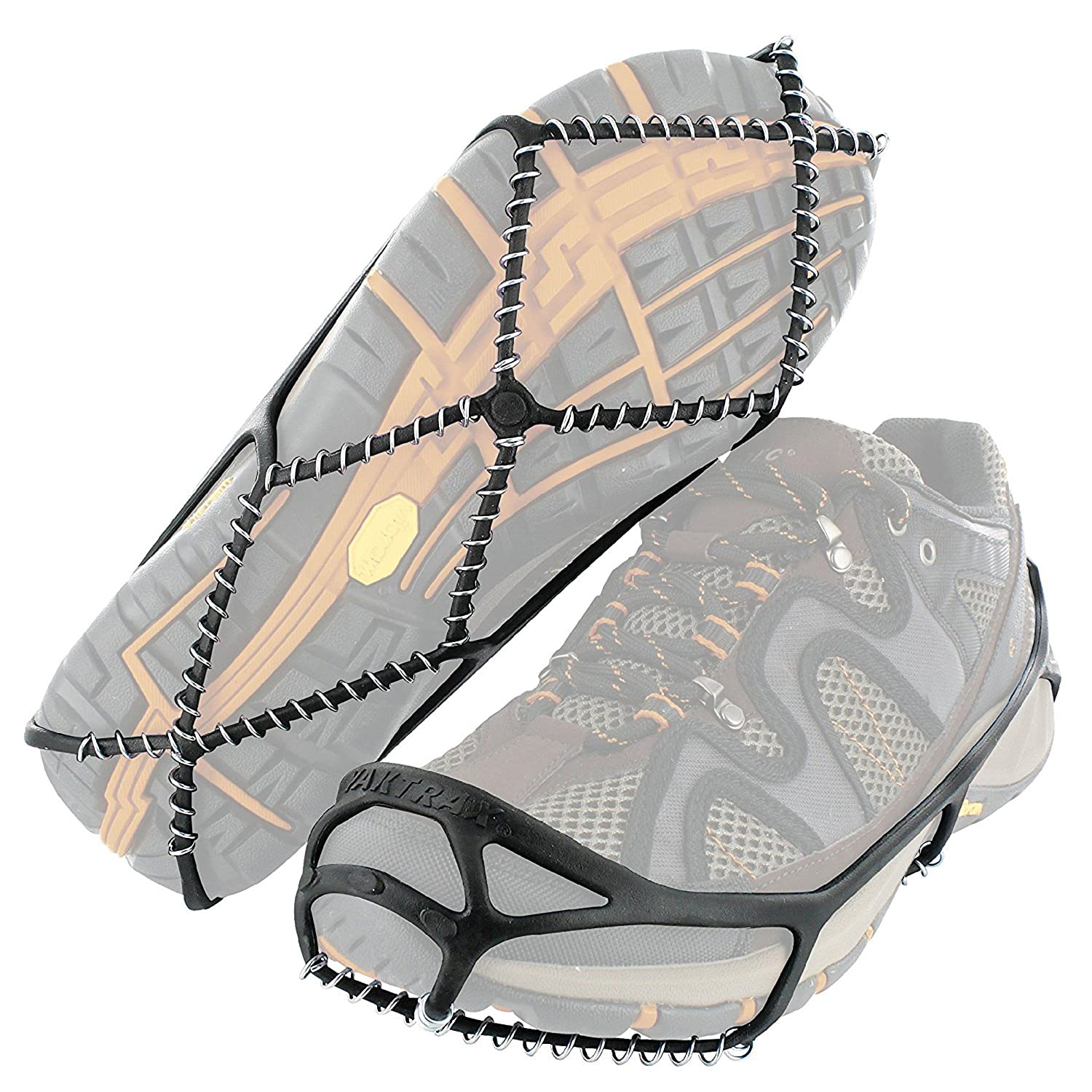 Yaktrax Walk Traction Cleats for Walking on Snow and Ice, Medium 8608 90040BLKMD