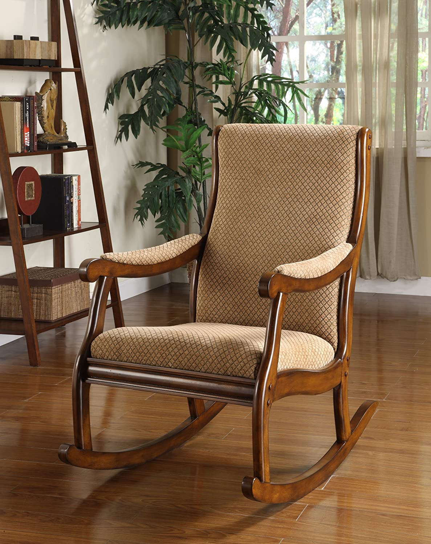Antique wood rocking chair - Amazon Com Furniture Of America Betty Rocking Chair Antique Oak Kitchen Dining